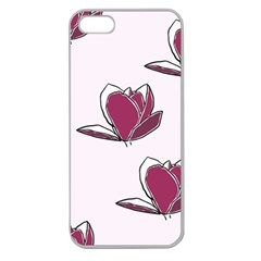 Magnolia Seamless Pattern Flower Apple Seamless iPhone 5 Case (Clear)