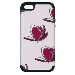 Magnolia Seamless Pattern Flower Apple Iphone 5 Hardshell Case (pc+silicone)