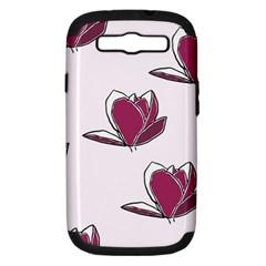 Magnolia Seamless Pattern Flower Samsung Galaxy S III Hardshell Case (PC+Silicone)
