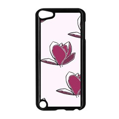Magnolia Seamless Pattern Flower Apple iPod Touch 5 Case (Black)