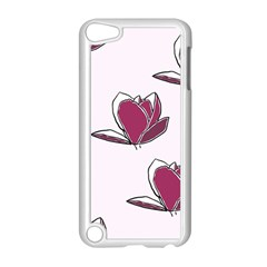 Magnolia Seamless Pattern Flower Apple iPod Touch 5 Case (White)