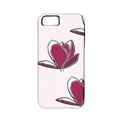 Magnolia Seamless Pattern Flower Apple iPhone 5 Classic Hardshell Case (PC+Silicone)