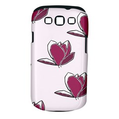 Magnolia Seamless Pattern Flower Samsung Galaxy S III Classic Hardshell Case (PC+Silicone)