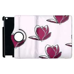 Magnolia Seamless Pattern Flower Apple Ipad 3/4 Flip 360 Case