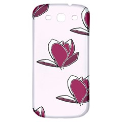 Magnolia Seamless Pattern Flower Samsung Galaxy S3 S III Classic Hardshell Back Case
