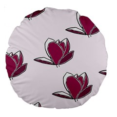 Magnolia Seamless Pattern Flower Large 18  Premium Round Cushions