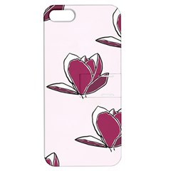 Magnolia Seamless Pattern Flower Apple iPhone 5 Hardshell Case with Stand