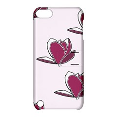 Magnolia Seamless Pattern Flower Apple iPod Touch 5 Hardshell Case with Stand