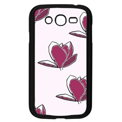 Magnolia Seamless Pattern Flower Samsung Galaxy Grand DUOS I9082 Case (Black)