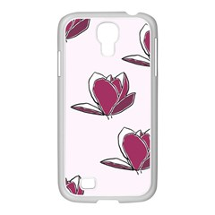 Magnolia Seamless Pattern Flower Samsung GALAXY S4 I9500/ I9505 Case (White)