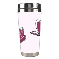 Magnolia Seamless Pattern Flower Stainless Steel Travel Tumblers
