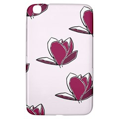 Magnolia Seamless Pattern Flower Samsung Galaxy Tab 3 (8 ) T3100 Hardshell Case