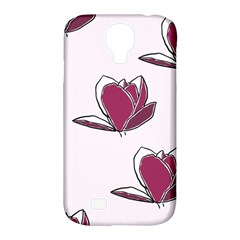 Magnolia Seamless Pattern Flower Samsung Galaxy S4 Classic Hardshell Case (PC+Silicone)