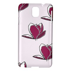 Magnolia Seamless Pattern Flower Samsung Galaxy Note 3 N9005 Hardshell Case
