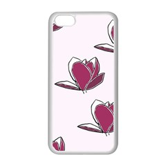 Magnolia Seamless Pattern Flower Apple iPhone 5C Seamless Case (White)