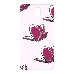 Magnolia Seamless Pattern Flower Samsung Galaxy Note 3 N9005 Hardshell Back Case