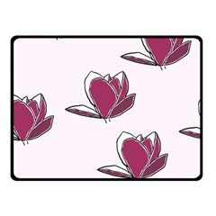 Magnolia Seamless Pattern Flower Double Sided Fleece Blanket (small)  by Nexatart