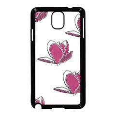 Magnolia Seamless Pattern Flower Samsung Galaxy Note 3 Neo Hardshell Case (Black)