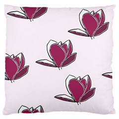 Magnolia Seamless Pattern Flower Large Flano Cushion Case (One Side)