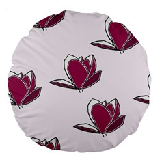 Magnolia Seamless Pattern Flower Large 18  Premium Flano Round Cushions