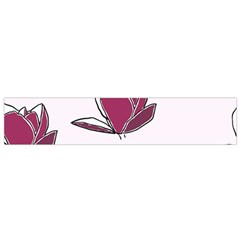 Magnolia Seamless Pattern Flower Flano Scarf (Small)