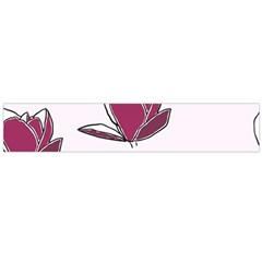 Magnolia Seamless Pattern Flower Flano Scarf (Large)