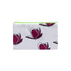 Magnolia Seamless Pattern Flower Cosmetic Bag (XS)