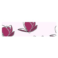 Magnolia Seamless Pattern Flower Satin Scarf (Oblong)