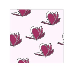 Magnolia Seamless Pattern Flower Small Satin Scarf (Square)