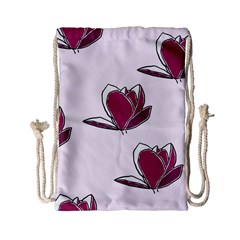 Magnolia Seamless Pattern Flower Drawstring Bag (Small)