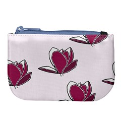 Magnolia Seamless Pattern Flower Large Coin Purse