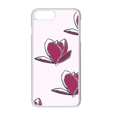 Magnolia Seamless Pattern Flower Apple iPhone 7 Plus White Seamless Case