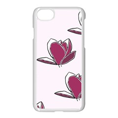Magnolia Seamless Pattern Flower Apple iPhone 7 Seamless Case (White)