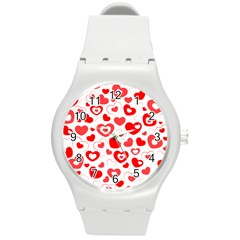 Cards Ornament Design Element Gala Round Plastic Sport Watch (m)