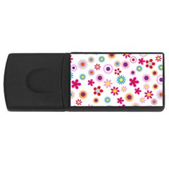 Floral Flowers Background Pattern Usb Flash Drive Rectangular (4 Gb) by Nexatart