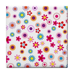 Floral Flowers Background Pattern Face Towel