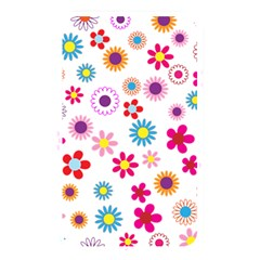 Floral Flowers Background Pattern Memory Card Reader