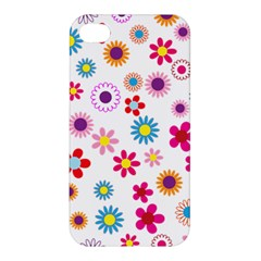 Floral Flowers Background Pattern Apple Iphone 4/4s Premium Hardshell Case