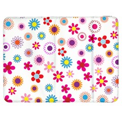 Floral Flowers Background Pattern Samsung Galaxy Tab 7  P1000 Flip Case