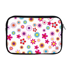 Floral Flowers Background Pattern Apple Macbook Pro 17  Zipper Case by Nexatart