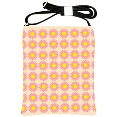 Pattern Flower Background Wallpaper Shoulder Sling Bags