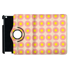 Pattern Flower Background Wallpaper Apple Ipad 2 Flip 360 Case