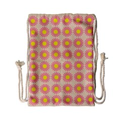 Pattern Flower Background Wallpaper Drawstring Bag (small) by Nexatart