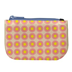 Pattern Flower Background Wallpaper Large Coin Purse