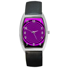 Background Coloring Circle Colors Barrel Style Metal Watch