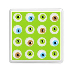 Eyes Background Structure Endless Memory Card Reader (square)  by Nexatart