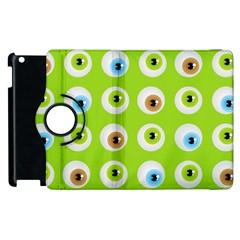 Eyes Background Structure Endless Apple Ipad 2 Flip 360 Case by Nexatart
