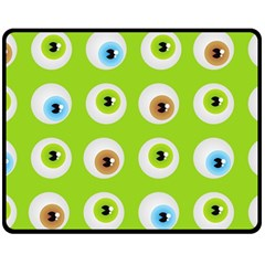 Eyes Background Structure Endless Double Sided Fleece Blanket (medium)