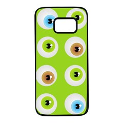 Eyes Background Structure Endless Samsung Galaxy S7 Black Seamless Case
