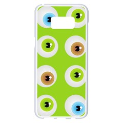Eyes Background Structure Endless Samsung Galaxy S8 Plus White Seamless Case
